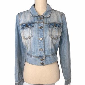 Highway Jeans Crop Jean Jacket
